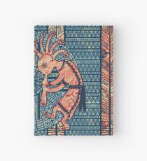 Native American Kokopelli - Ethno Border Pattern 7 Hardcover Journal