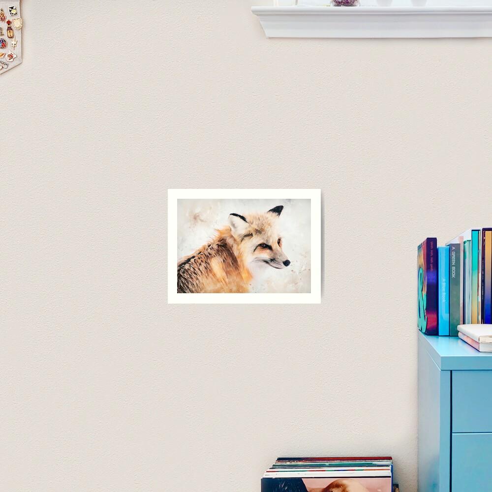Painted Fox Art Print