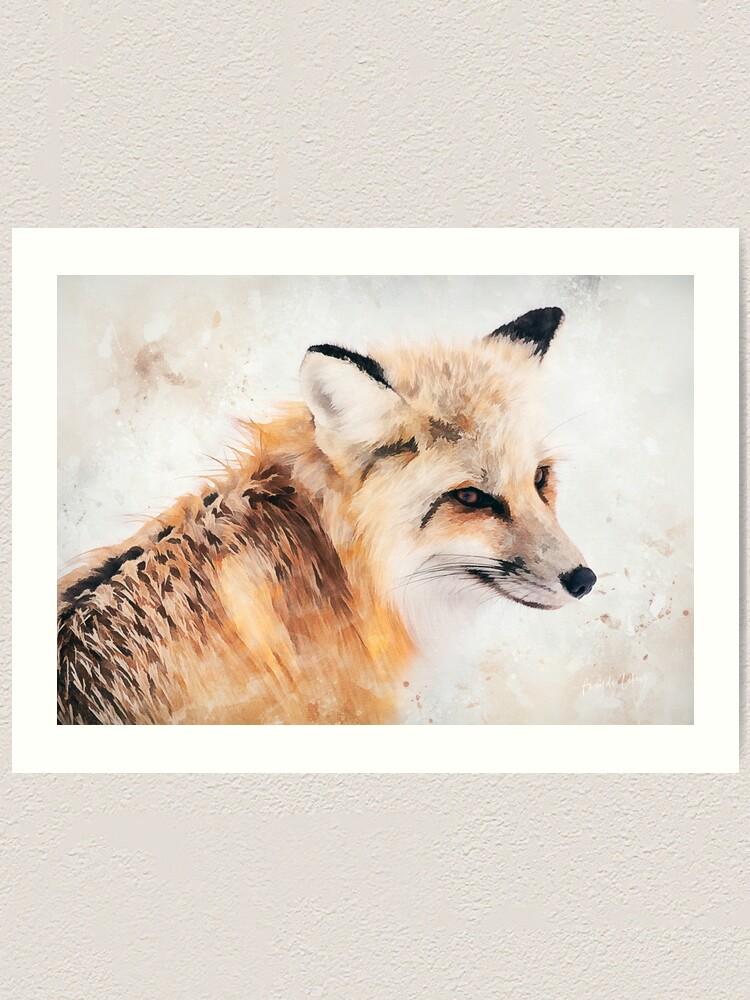 Alternate view of Painted Fox Art Print