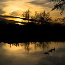 Flatford Mill Sunset by newbeltane