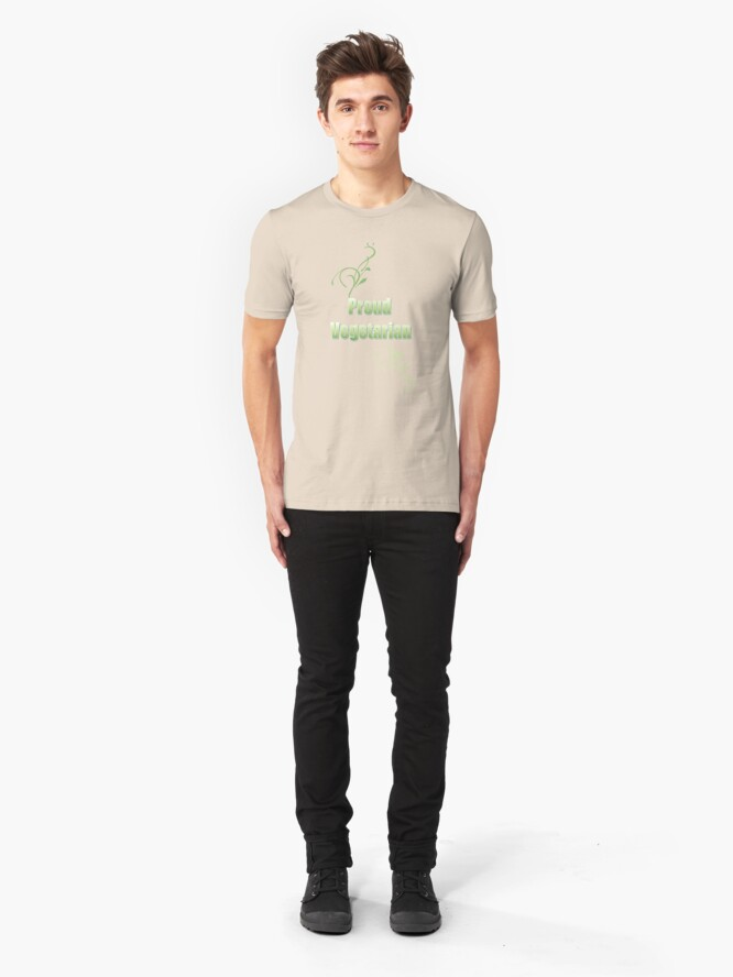 Alternate view of Proud Vegetarian Slim Fit T-Shirt