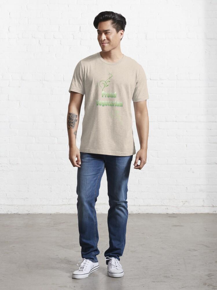 Alternate view of Proud Vegetarian Essential T-Shirt