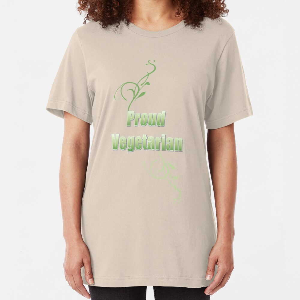 Proud Vegetarian Slim Fit T-Shirt