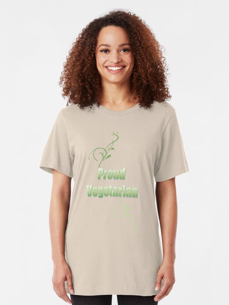 Alternate view of Proud Vegetarian Slim Fit T-Shirt