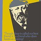 Jules Verne Quotes - Best Friend Sleep 1 by EDDArt