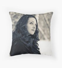 Winter is on my head Throw Pillow