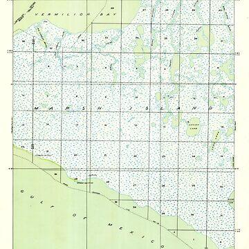 USGS TOPO Map Louisiana LA Bayou Lucien 333647 1949 31680 by wetdryvac