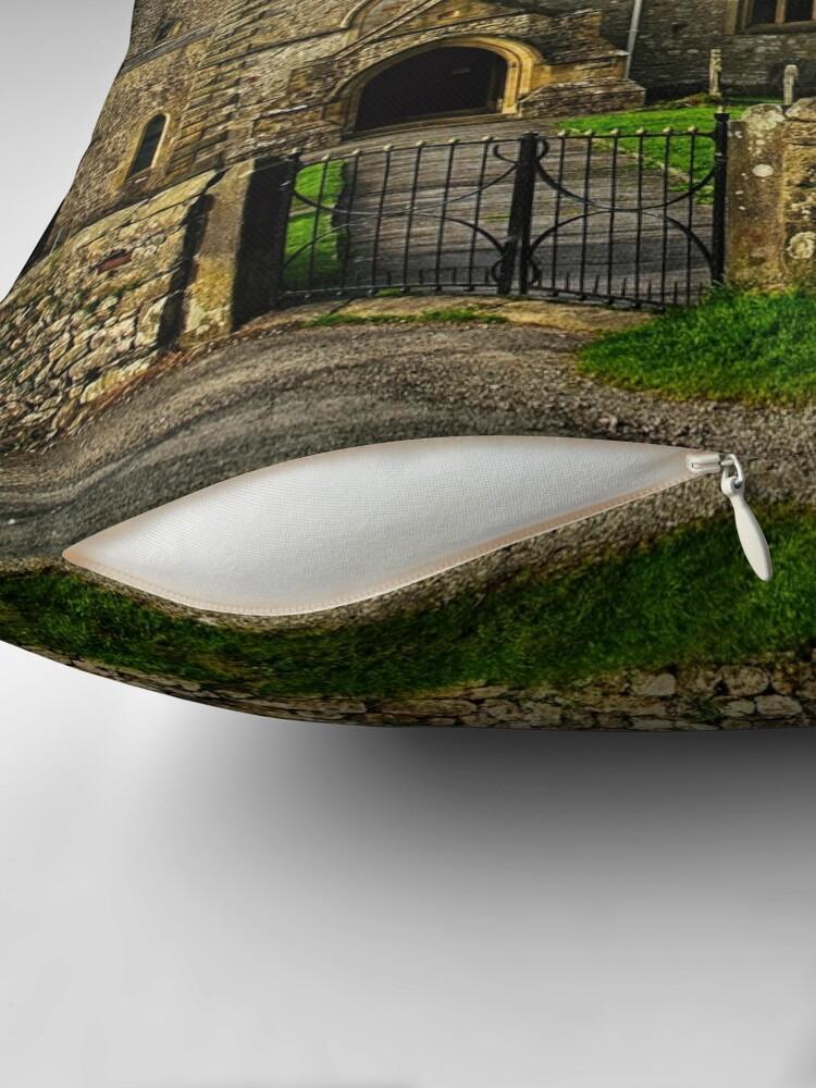 Alternate view of Parish Church, Clapham, North Yorkshire Throw Pillow