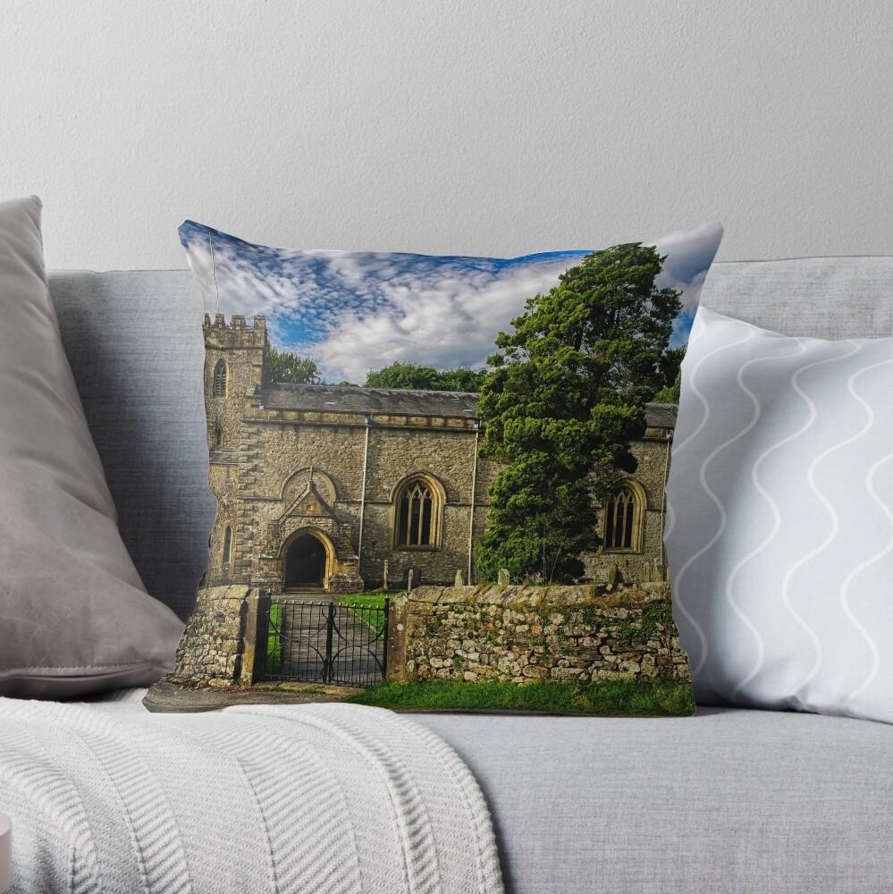 Parish Church, Clapham, North Yorkshire Throw Pillow