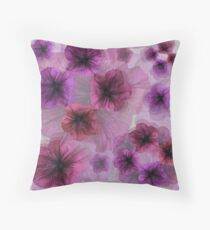 Petunia Shades Throw Pillow
