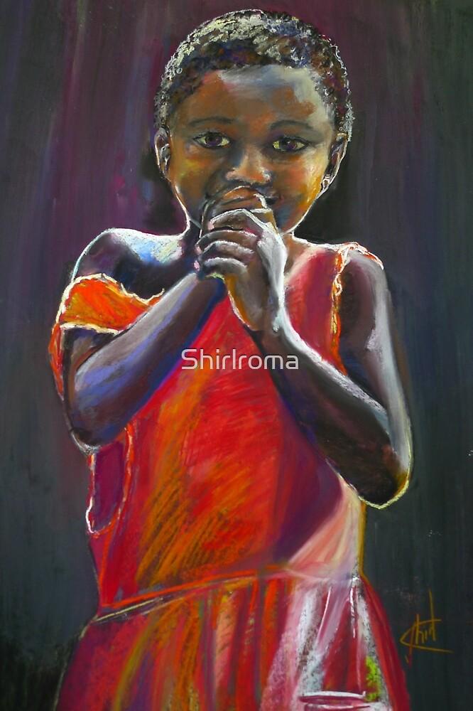 Shy Malawian girl Pastel Portrait by Shirlroma