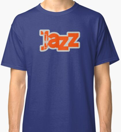 Graphic Typographic Jazz Themed Concept Classic T-Shirt