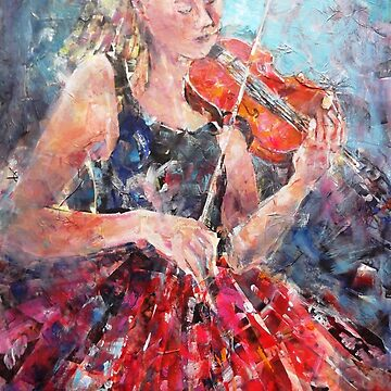 Music-Girl with Violin(Red Skirt) MM 3965x2550 by ballet-dance
