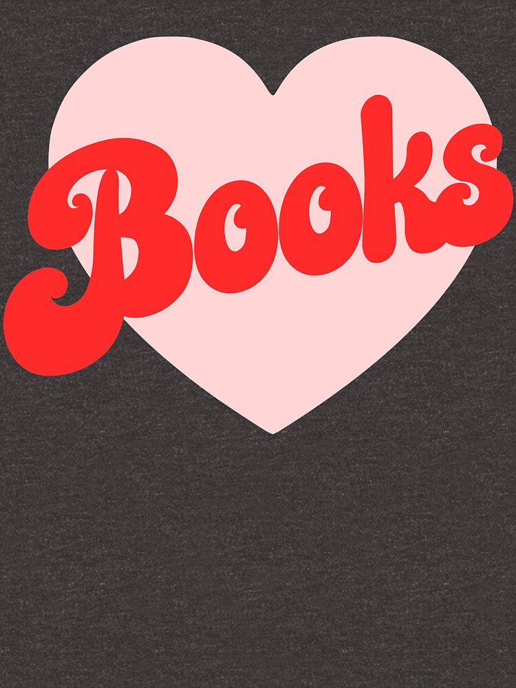 Funny I Love Books Print with Heart by kapotka