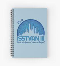 Visit (dark blue) Spiral Notebook