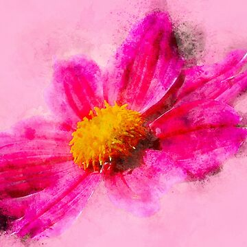 Pink Watercolor Flower by rhamm