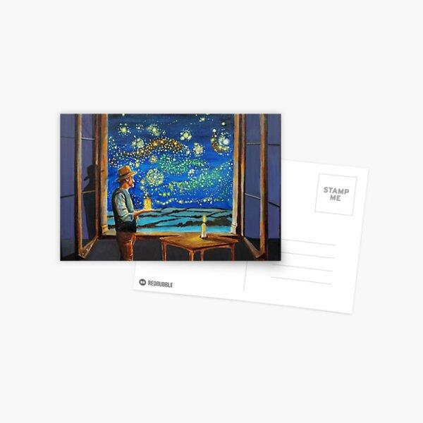Van Gogh starry night fireflies Postcard