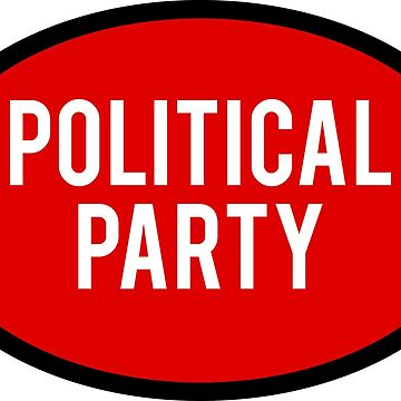 Generic Political Party Sticker - Red by BrobocopPrime