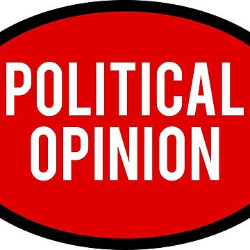 Generic Political Opinion Sticker - Red by BrobocopPrime