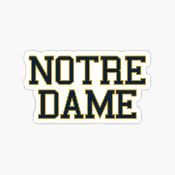 Notre Dame University Sticker