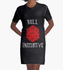 Dungeons & Dragons Roll Initiative gift idea Graphic T-Shirt Dress