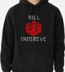 Dungeons & Dragons Roll Initiative gift idea Pullover Hoodie