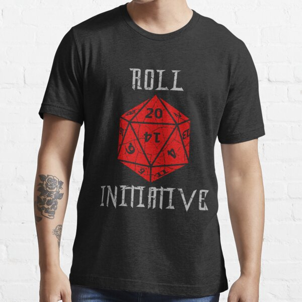 Dungeons & Dragons Roll Initiative gift idea Essential T-Shirt