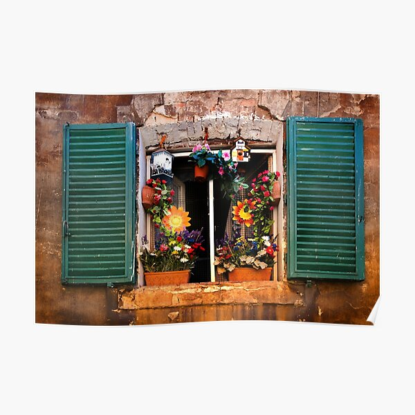 Tuscan window - Siena Poster