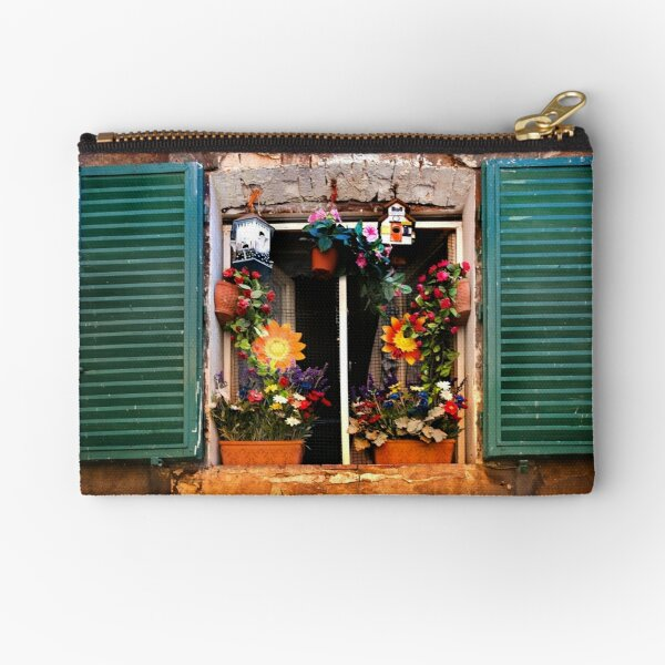 Tuscan window - Siena Zipper Pouch