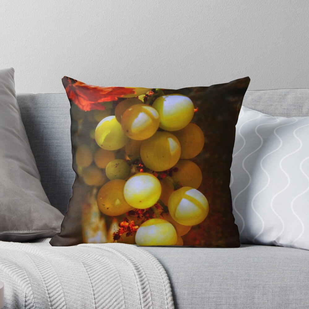 Bunch of Golden Delight Throw Pillow