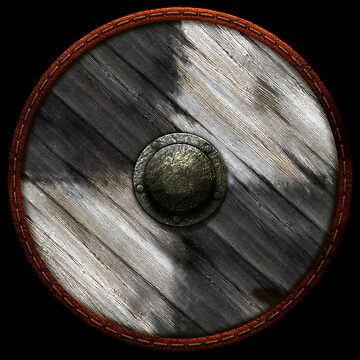 Viking Shield - Squares Black / White by kayakcapers