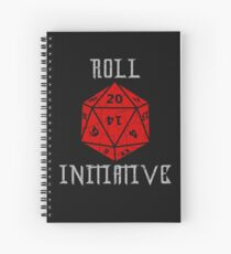 Dungeons & Dragons Roll Initiative gift idea Spiral Notebook