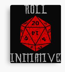 Dungeons & Dragons Roll Initiative gift idea Canvas Print