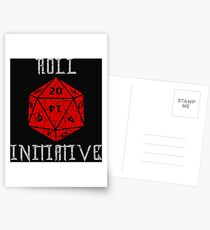 Dungeons & Dragons Roll Initiative gift idea Postcards