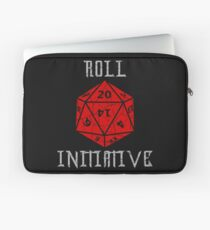Dungeons & Dragons Roll Initiative gift idea Laptop Sleeve