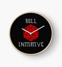 Dungeons & Dragons Roll Initiative gift idea Clock