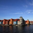 Coloured houses  by Peter Voerman