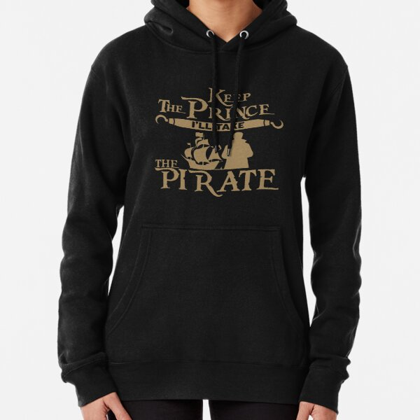 Keep The Prince I'll Take the Pirate Storybrooke's Captain Hook Once Upon a Time, OUAT Gold Print Pullover Hoodie