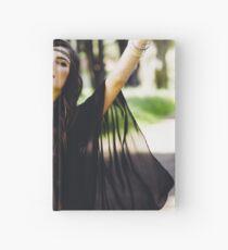 Hippie Girl Poster Hardcover Journal