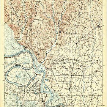 USGS TOPO Map Louisiana LA Bayou Sara 335203 1906 125000 by wetdryvac
