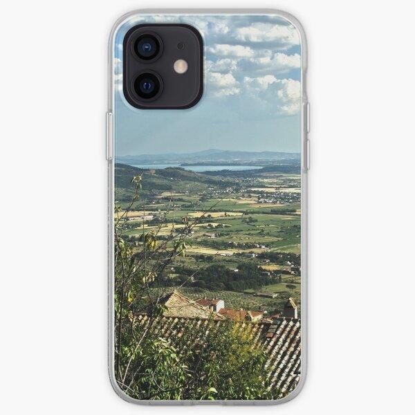 Lake Trasimeno (Italian: Lago Trasimeno) from Cortona iPhone Soft Case
