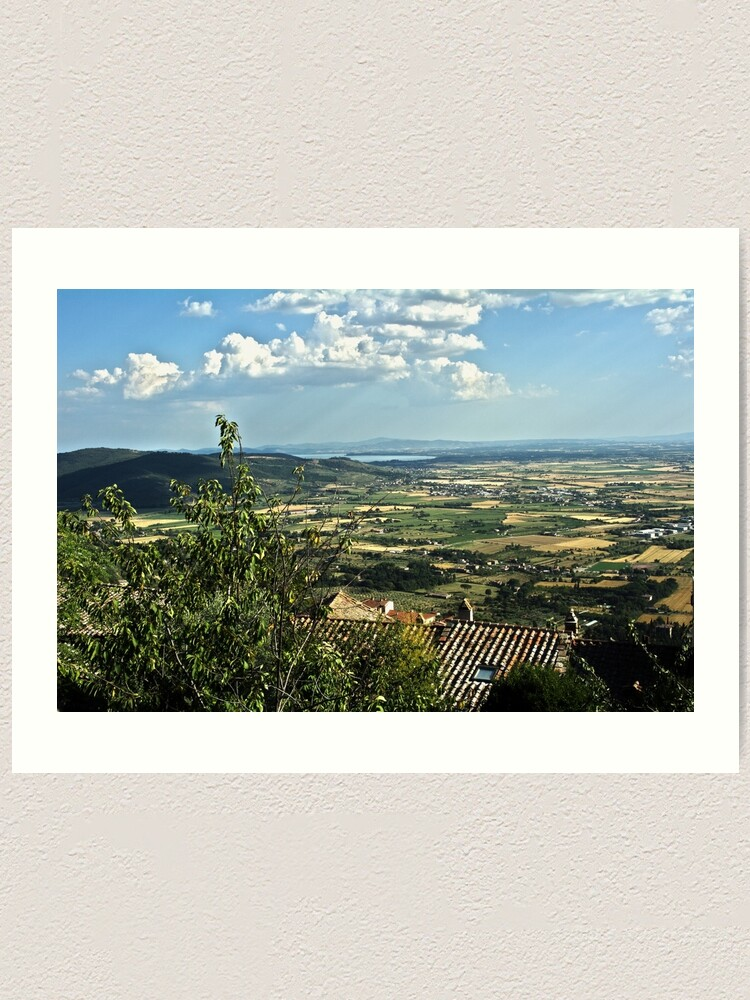 Alternate view of Lake Trasimeno (Italian: Lago Trasimeno) from Cortona Art Print