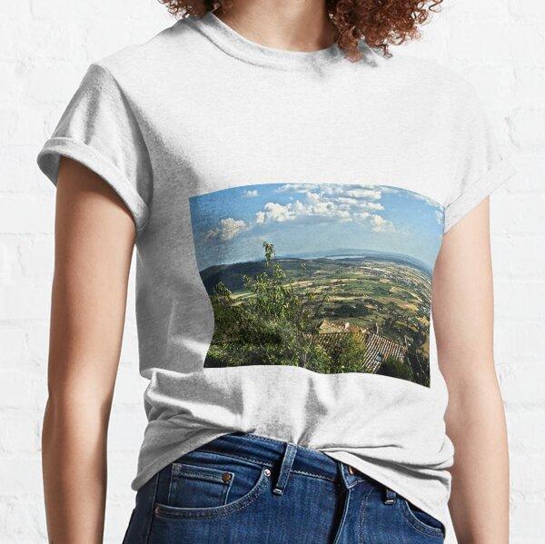 Lake Trasimeno (Italian: Lago Trasimeno) from Cortona Classic T-Shirt