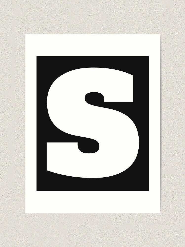 Alphabet S (Kleinbuchstaben s), Buchstabe S Kunstdruck