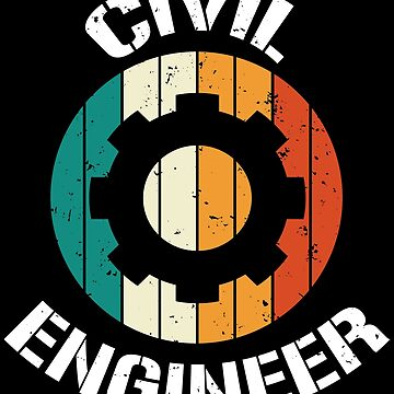 Retro Vintage Civil Engineer Engineering T-shirt by zcecmza