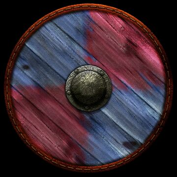 Viking Shield - quarters, red, blue by kayakcapers