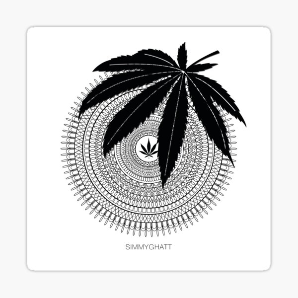 Weed Mandala by Simmy Ghatt Sticker