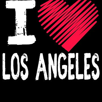 I Love Los Angeles California Tourist Gift by Aewood924