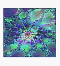 Fraktal Grande grün Fotodruck
