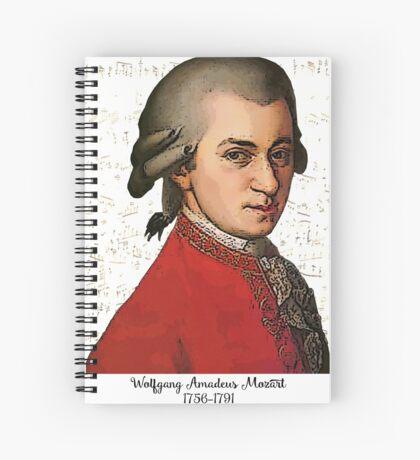 Wolfgang Amadeus Mozart Grunged Spiral Notebook